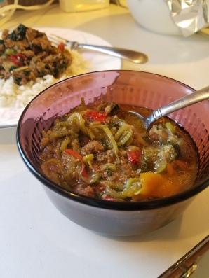 ground turkey in a soup