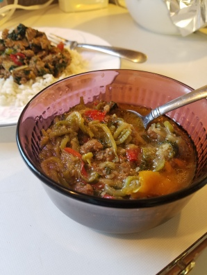ground turkey in a soup